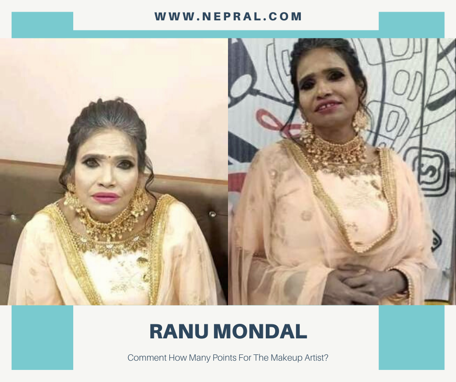 Funny Makeup of Ranu Mandal - People Making Fun of the Makeup Artist