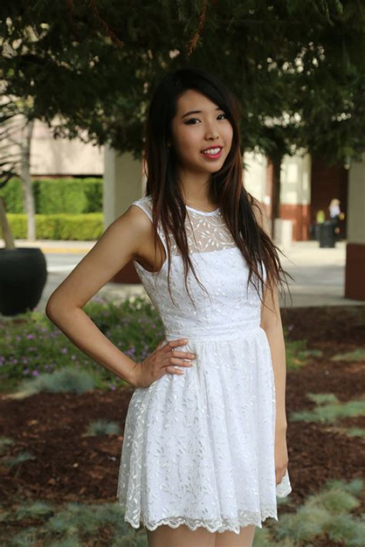 I love wearing white dresses