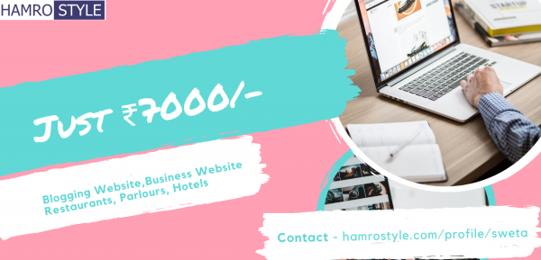 I will create a full Blogging, Restaurant, Parlour and any kind of Professional Business Website at Rs 7000 only