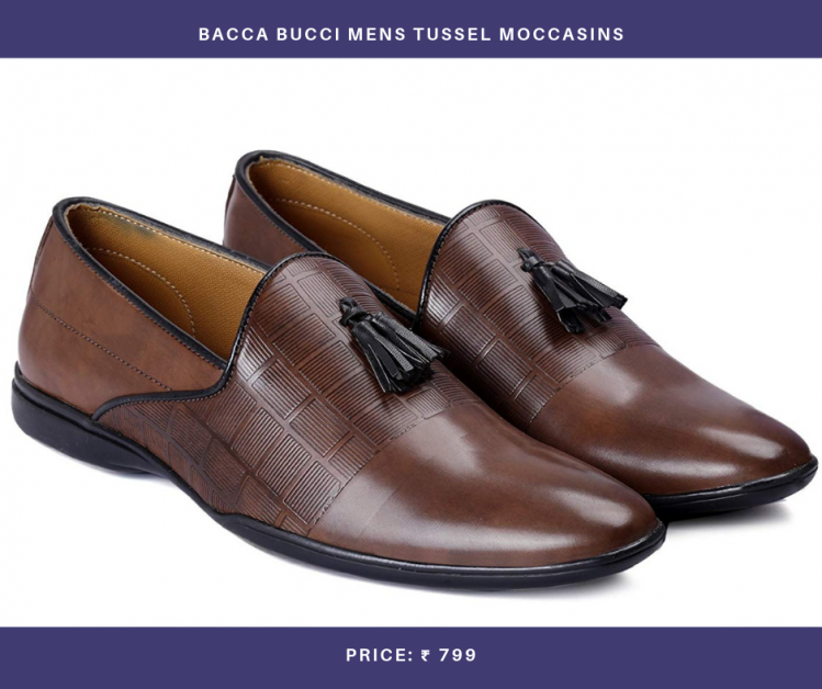 Bacca Bucci Mens Tussel Moccasins
