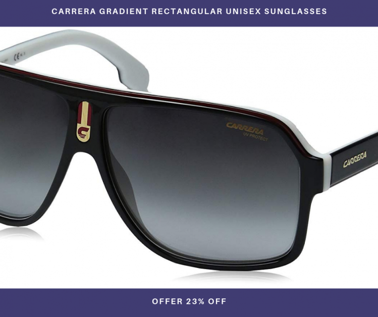 Carrera Gradient Rectangular Unisex Sunglasses
