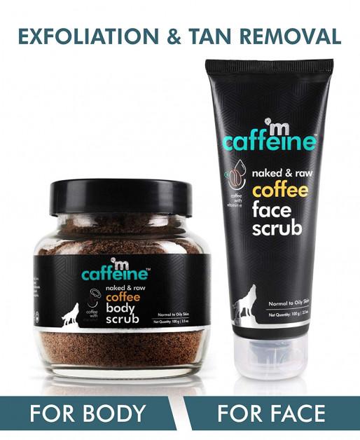 Coffee Exfoliation & Tan Removal Combo - Body Scrub, Face Scrub
