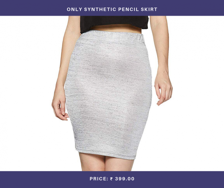 ONLY Synthetic Pencil Skirt