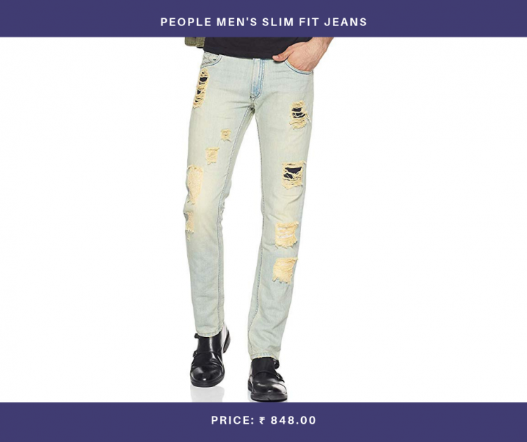 People Men's Slim Fit Jeans